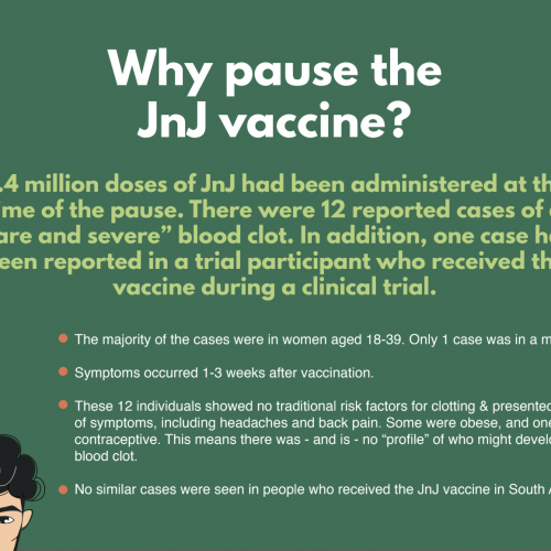 Why Pause JnJ vaccine